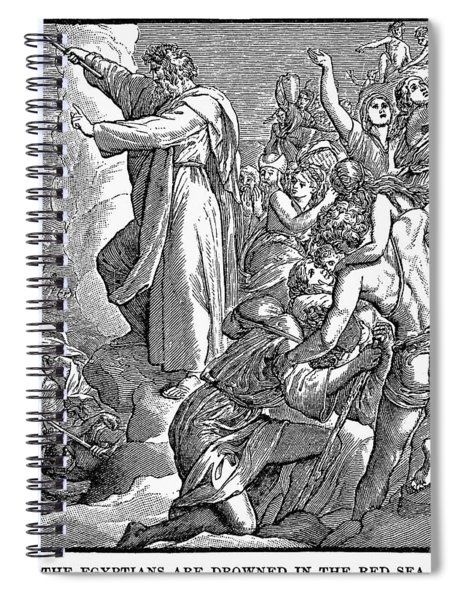 Moses And The Red Sea Spiral Notebook