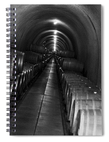 Napa Wine Barrels In Cellar Spiral Notebook