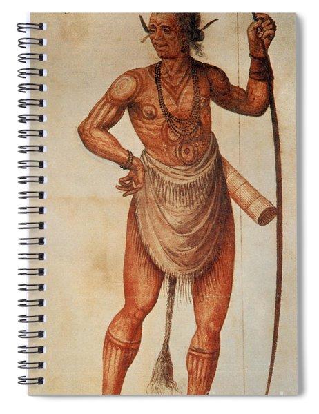 Native American Man C1590 Spiral Notebook