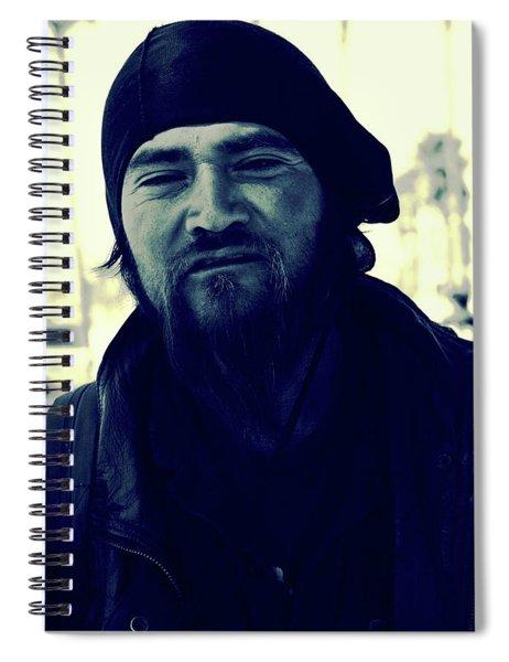 Navy Blue Man Spiral Notebook