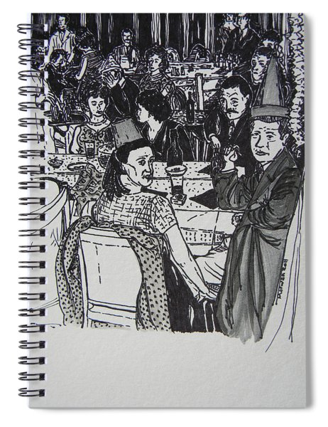 New Year's Eve 1950's Spiral Notebook