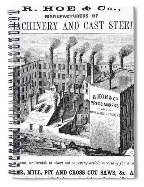 New York: Factory, 1855 Spiral Notebook
