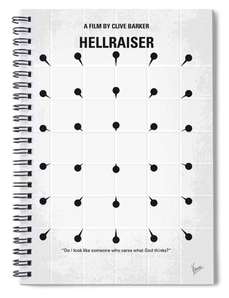 No033 My Hellraiser Minimal Movie Poster.jpg Spiral Notebook