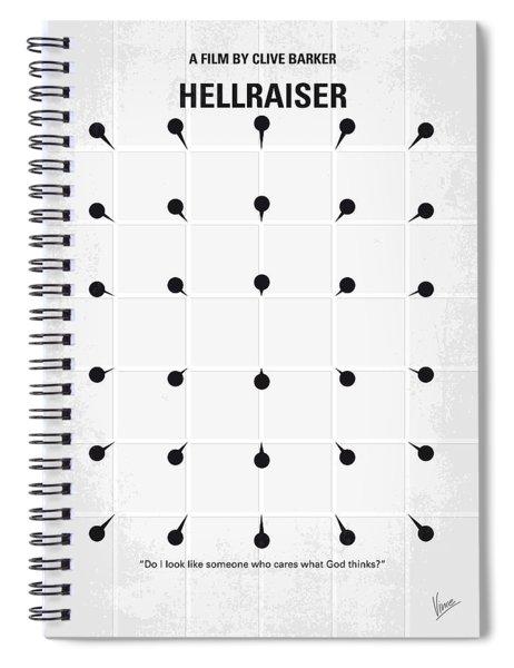 No033 My Hellraiser Minimal Movie Poster.jpg Spiral Notebook by Chungkong Art