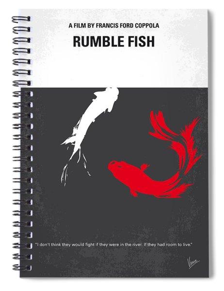 No073 My Rumble Fish Minimal Movie Poster Spiral Notebook
