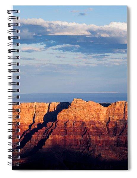 North Rim At Sunset Spiral Notebook