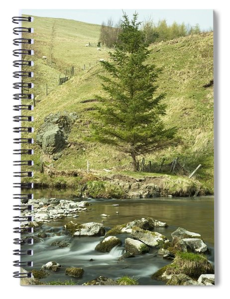 Northumberland, England A River Flowing Spiral Notebook