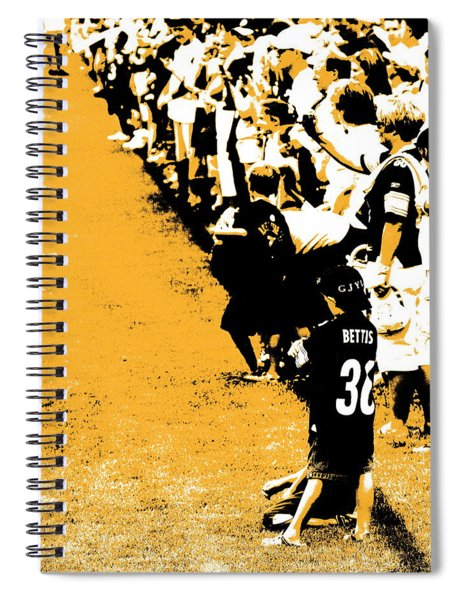 Number 1 Bettis Fan - Black And Gold Spiral Notebook