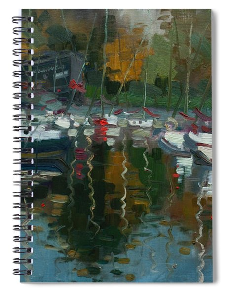 Oakville Harbour On Spiral Notebook