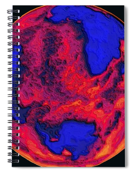 Oceans Of Fire Spiral Notebook