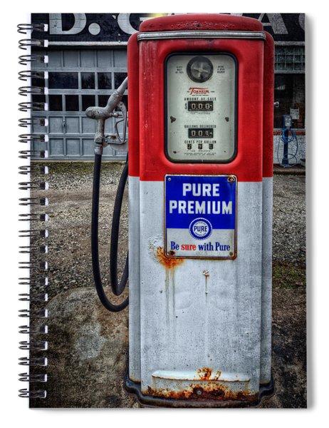 Old And Rustu Pump 2  Spiral Notebook