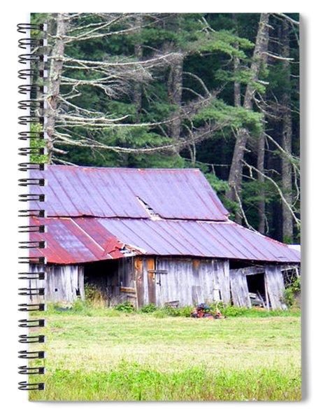 Old Barn Near Cashiers Nc Spiral Notebook