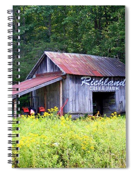 Old Barn Near Silversteen Road Spiral Notebook