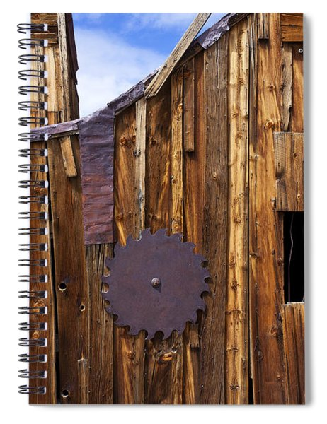 Old Building Bodie Ghost Town Spiral Notebook