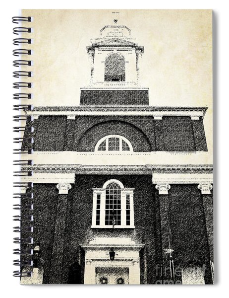 Old Church In Boston Spiral Notebook