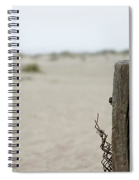 Old Fence Pole Spiral Notebook