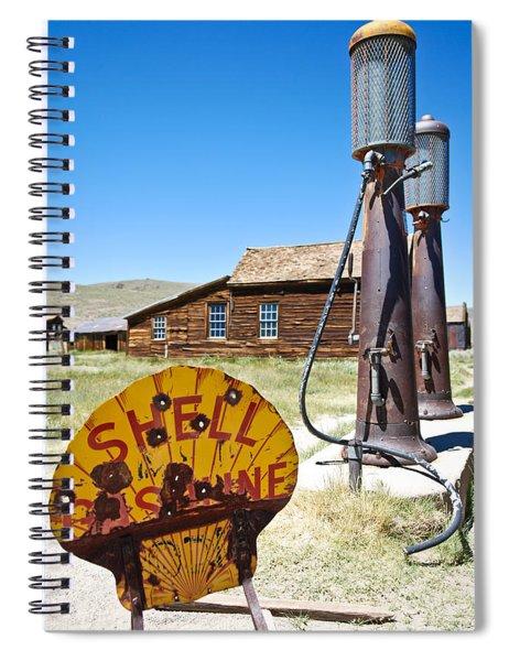 Old Gas Pumps Spiral Notebook