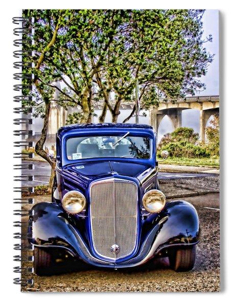 Old Roadster - Blue Spiral Notebook