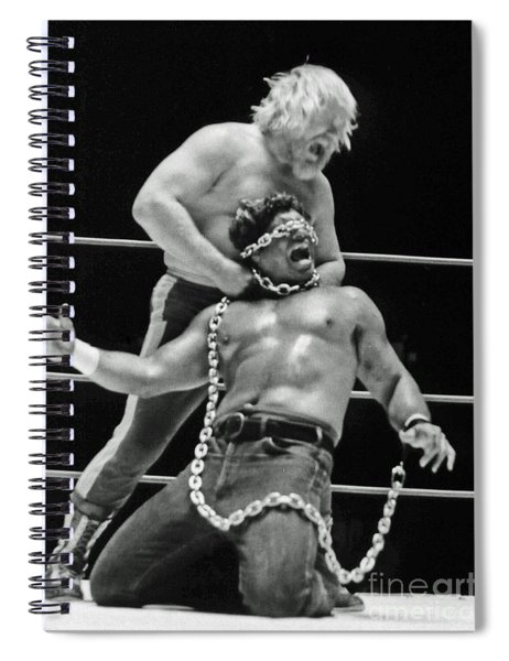 Old School Wrestling Chain Match Between Moondog Mayne And Don Muraco Spiral Notebook