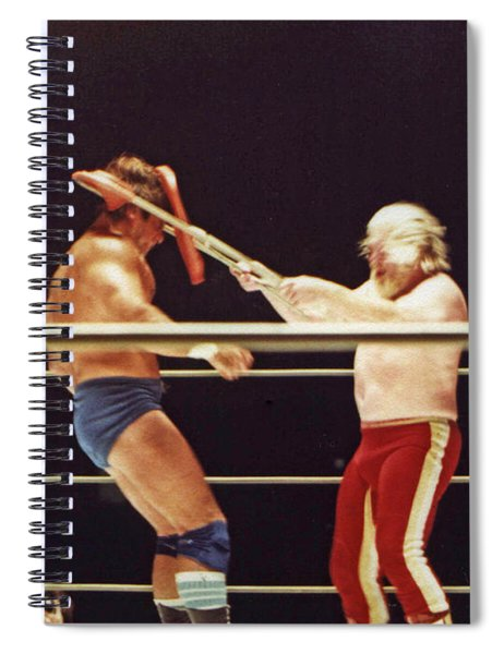Old School Wrestling Chair Shot To The Head On Don Muraco By Moondog Mayne Spiral Notebook