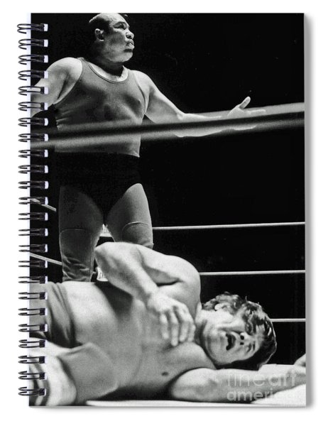 Old School Wrestling From The Cow Palace  Spiral Notebook