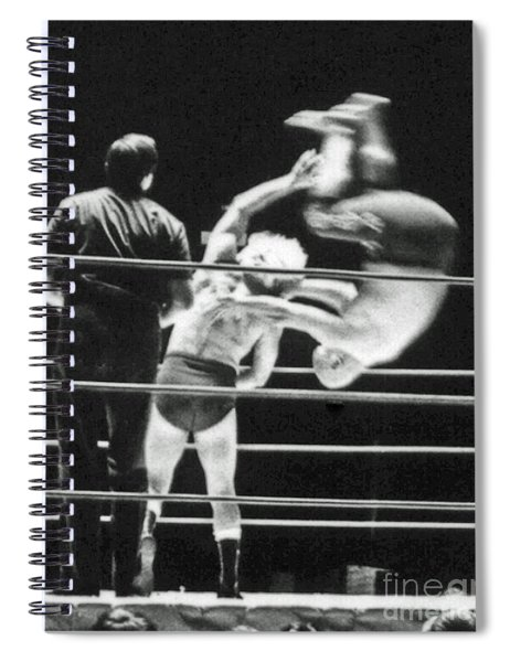 Old School Wrestling With Pat Patterson And Mr Fuji Ttling  Spiral Notebook