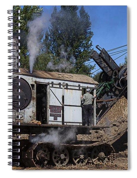Old Steam Shovel  Spiral Notebook