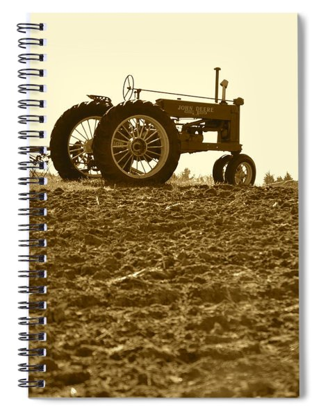 Old Tractor I In Sepia Spiral Notebook