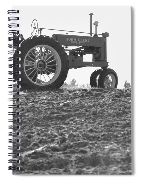 Old Tractor II In Black-and-white Spiral Notebook