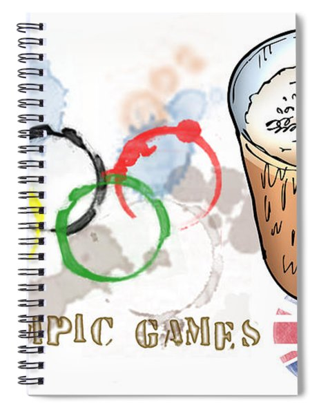 Olympic Rings Spiral Notebook