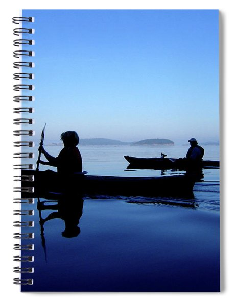 Spiral Notebook featuring the photograph On The Deep Blue Sea by Lorraine Devon Wilke