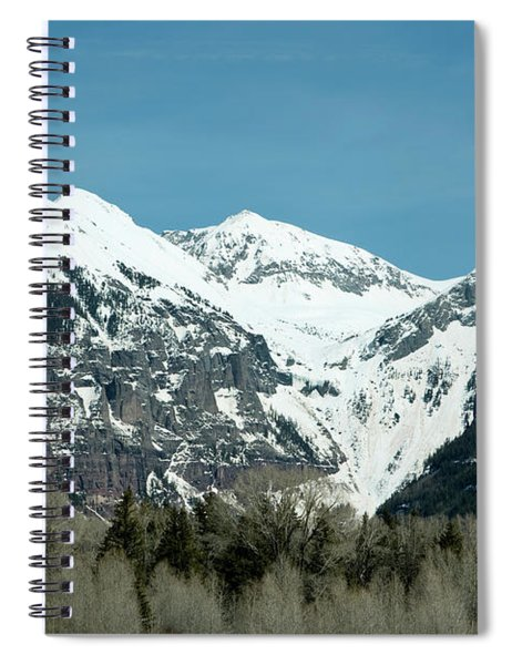 Spiral Notebook featuring the photograph On The Road To Telluride by Lorraine Devon Wilke