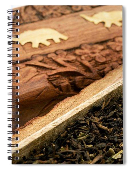 Ornate Box With Darjeeling Tea Spiral Notebook