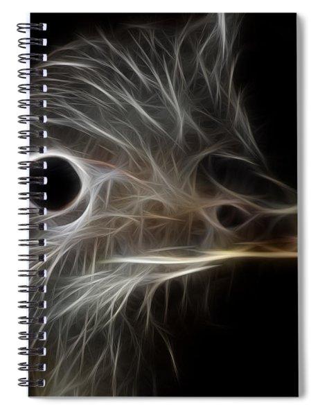 Ostrich Fractalius Spiral Notebook