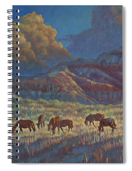 Painted Desert Painted Horses Spiral Notebook