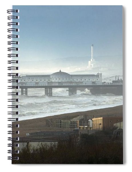 Palace Pier And Shoreham Power Station Spiral Notebook