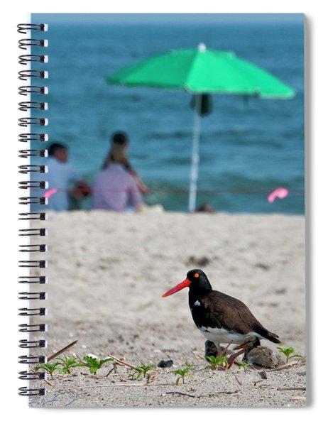 Parenting On A Beach Spiral Notebook