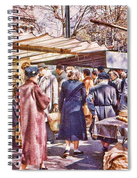 Parisian Market 1954 Spiral Notebook