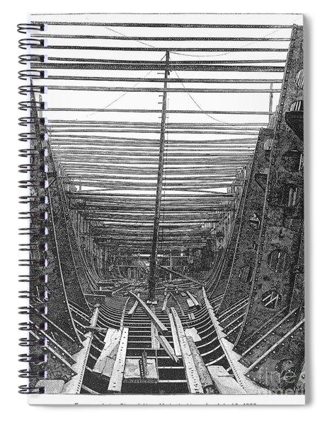 Passenger Ship Frame, 1887 Spiral Notebook