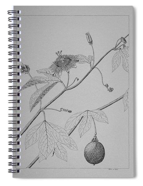 Passionflower Vine Spiral Notebook