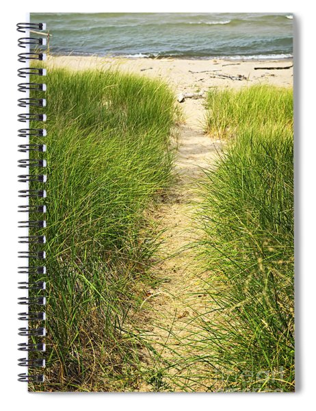 Path To Beach Spiral Notebook