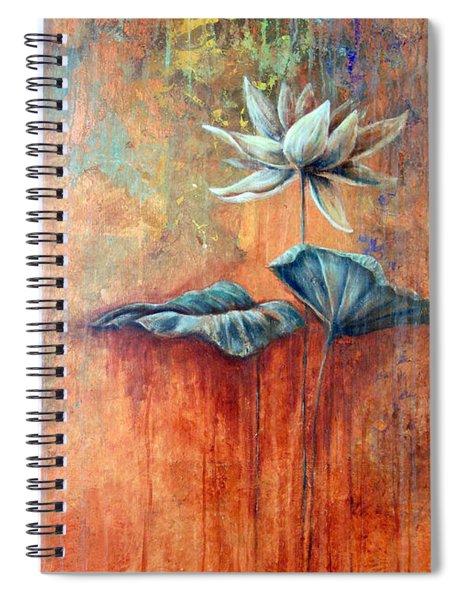 Patina Lotus Spiral Notebook
