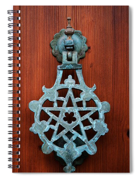 Pentagram Knocker Spiral Notebook