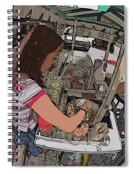 Philippines 91 Street Food Spiral Notebook