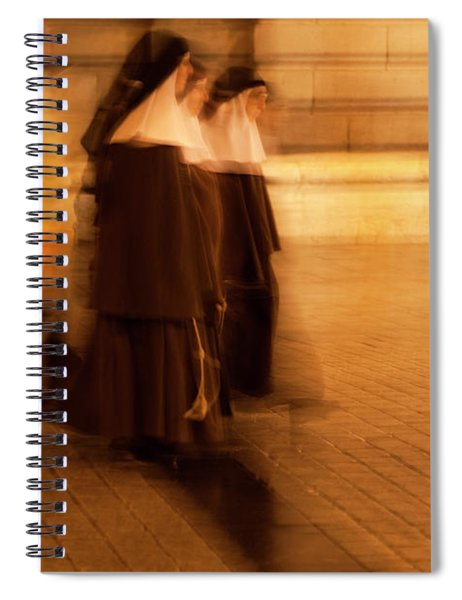 Spiral Notebook featuring the photograph Piety In Motion by Lorraine Devon Wilke