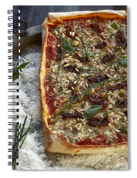 Pizza With Herbs Spiral Notebook