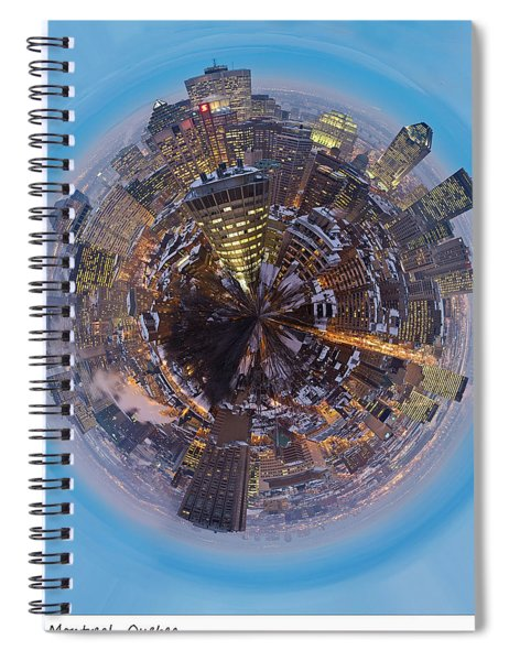 Planet Wee Montreal Quebec Spiral Notebook
