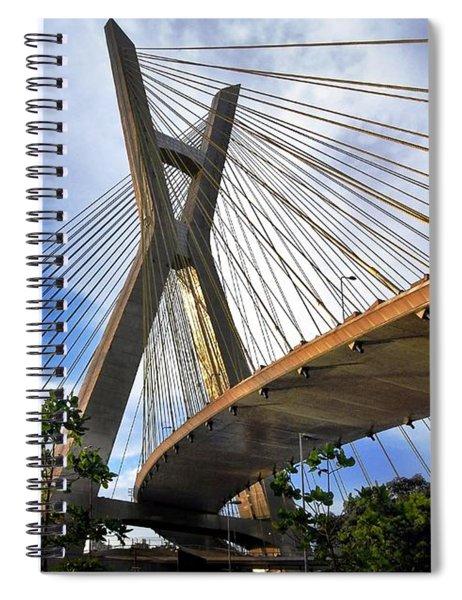 Ponte Estaiada Octavio Frias De Oliveira Ao Cair Da Tarde Spiral Notebook