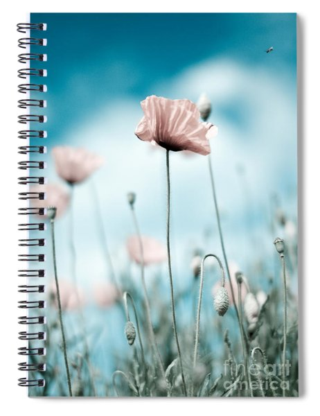 Poppy Flowers 10 Spiral Notebook by Nailia Schwarz