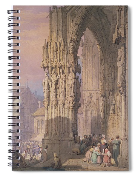Porch Of Regensburg Cathedral Spiral Notebook